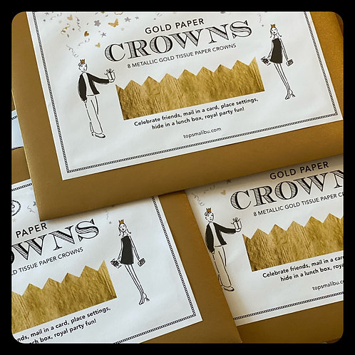 Gold Paper Crowns