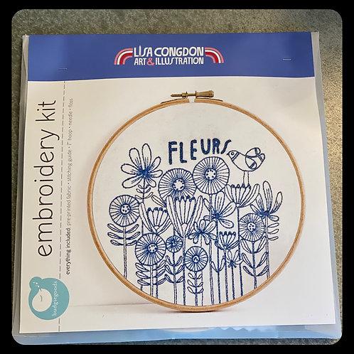 Lisa Congdon Embroidery 'Fleurs'