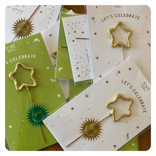 Small Let's Celebrate Sparkler Card