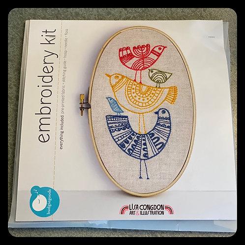 Lisa Congdon 'Birds' Embroidery