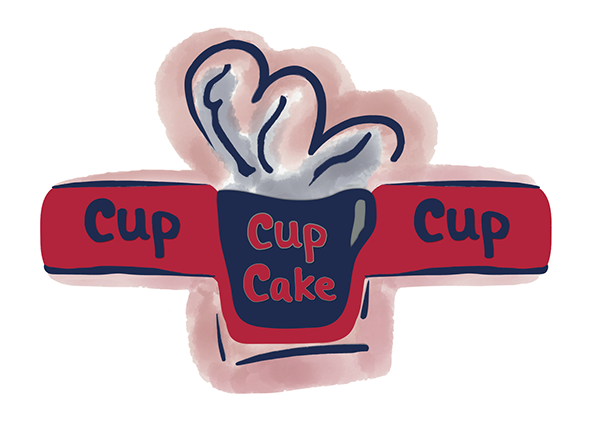 Cup Cup Cup Cake Logo