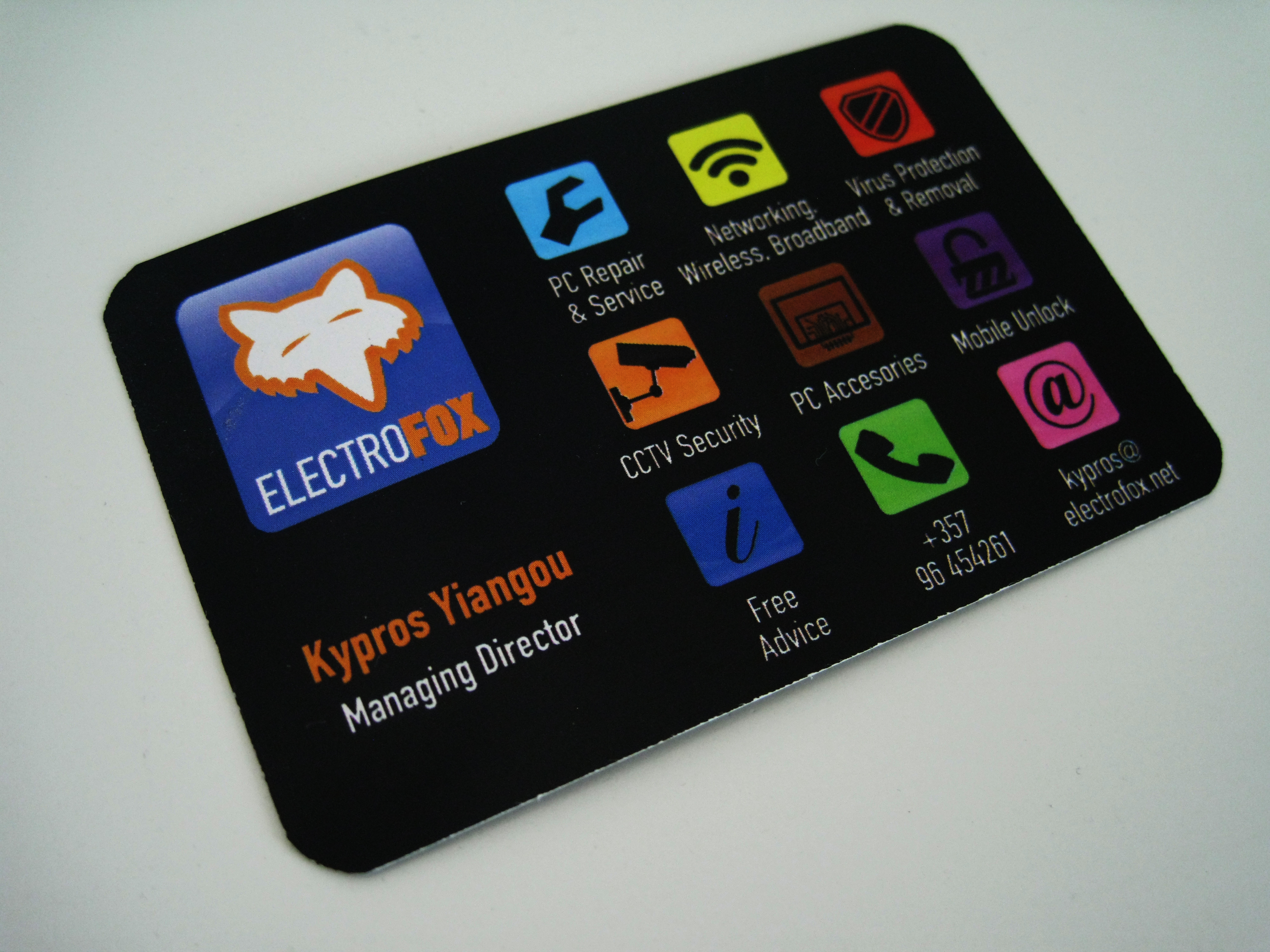 Electro Fox Business Cards