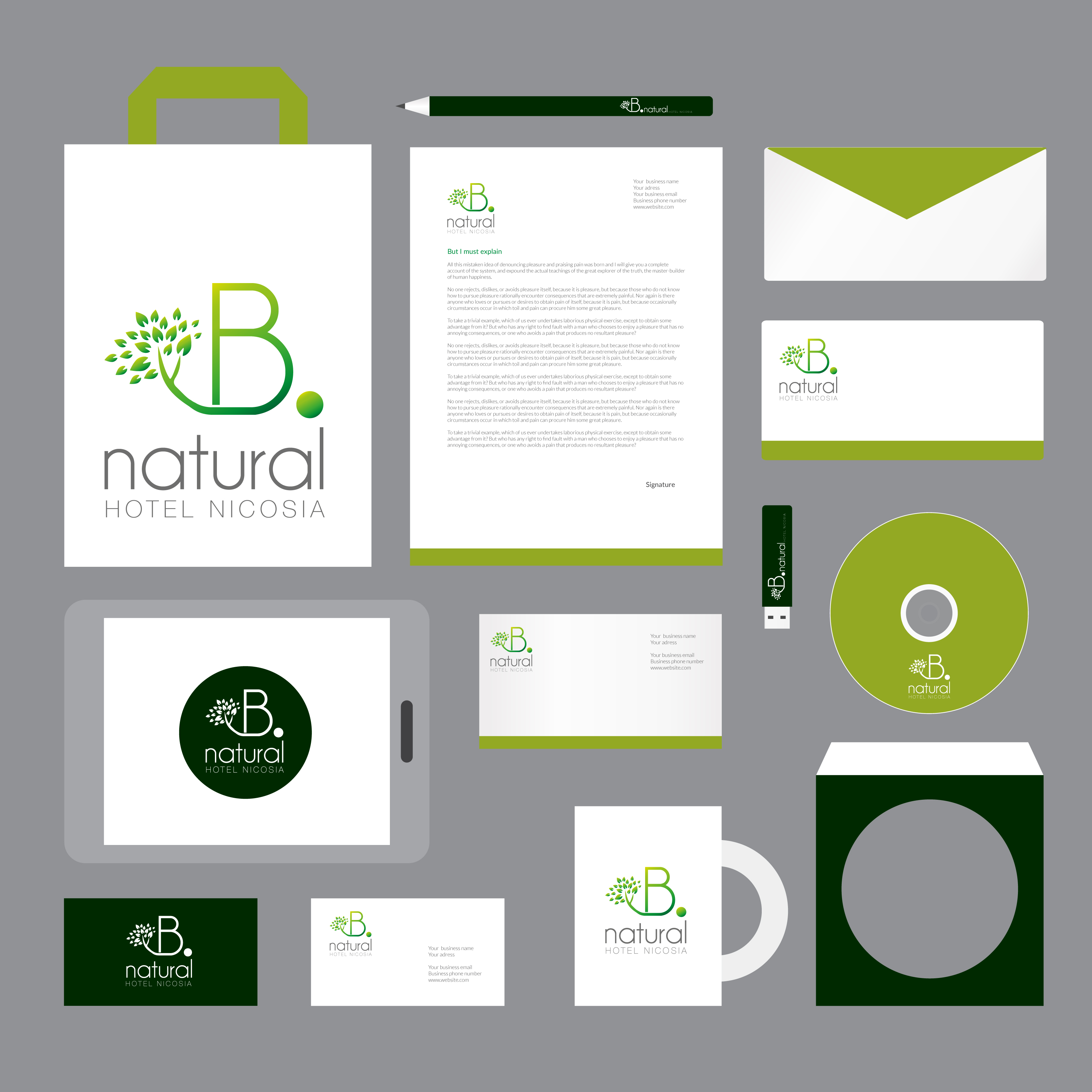 B•Natural Hotel Corporate Identity