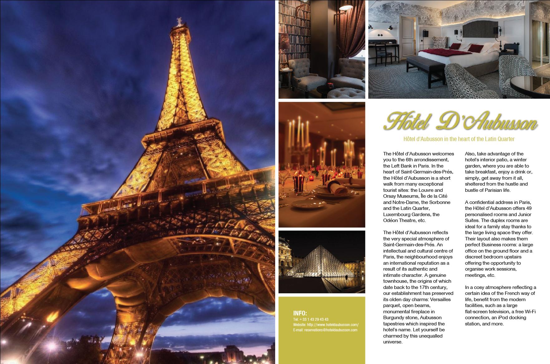 Hotel D' Aubusson Magazine Advert