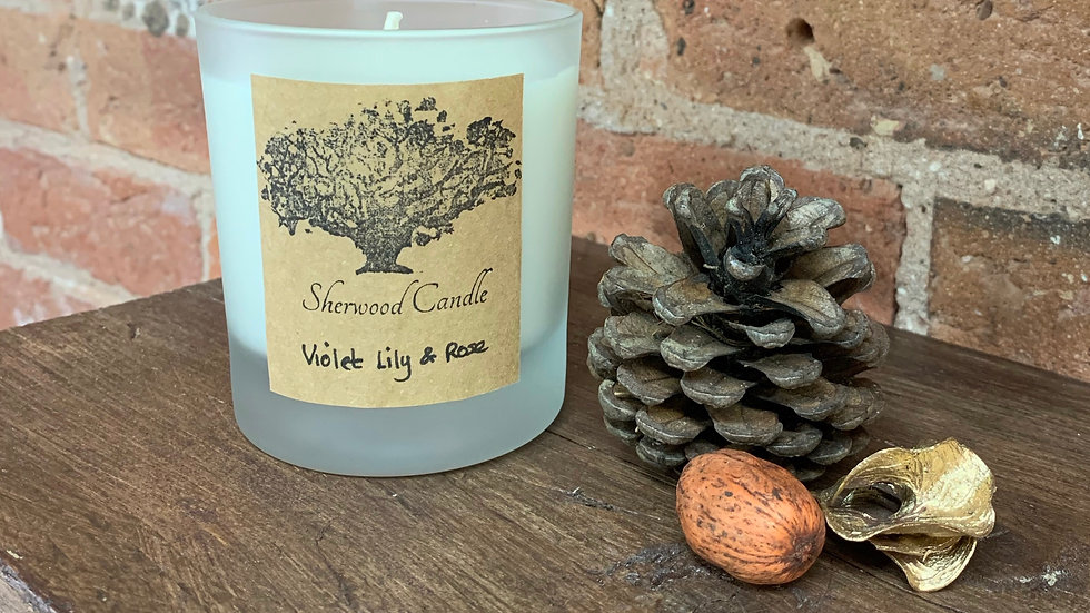 Violet Lily & Rose Organic Soy Candle