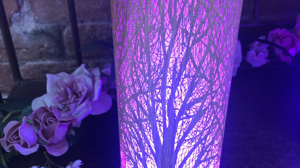 Oak Effect LED Colour Changing Electric Wax Warmer