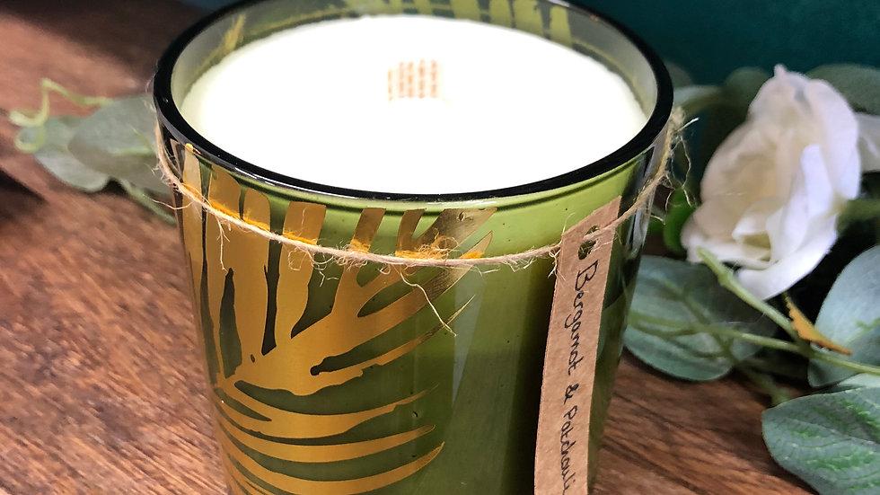 Large Bergamot & Patchouli Organic Soy Wax Candle