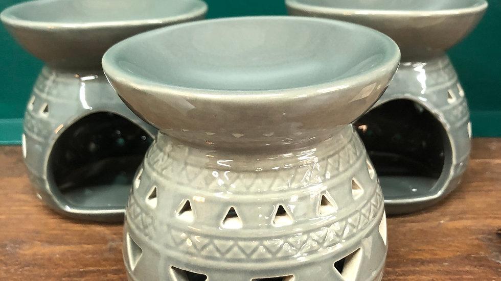 Grey Aztec Wax Warmer
