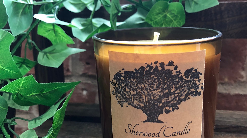 Black Amber & Lavender Organic Soy Candle