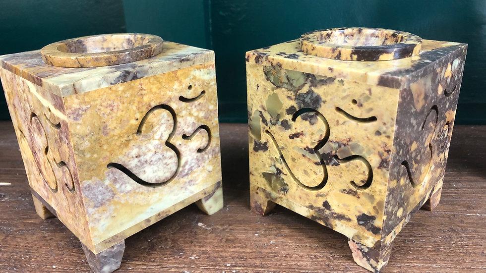 OM Symbol Soapstone Wax Warmer