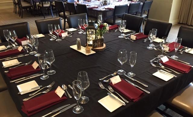 S&J_Charcoal Grey + Burgandy Table Settings