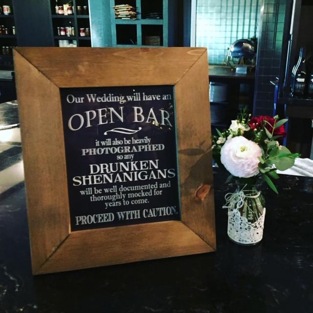 S&J_Open Bar Signage