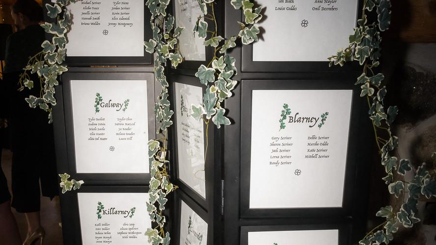 Seating chart + vine growth