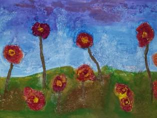 Blumenwiese, Collage