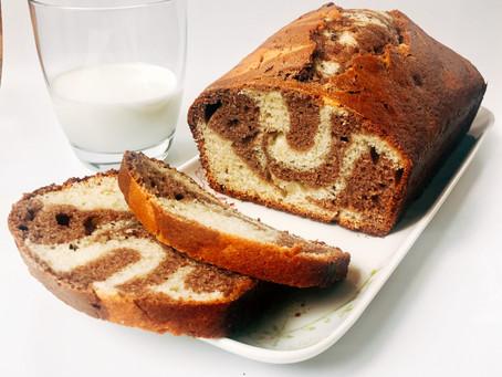 Gâteau marbré au Yogourt: la recette idéale à faire avec les enfants!