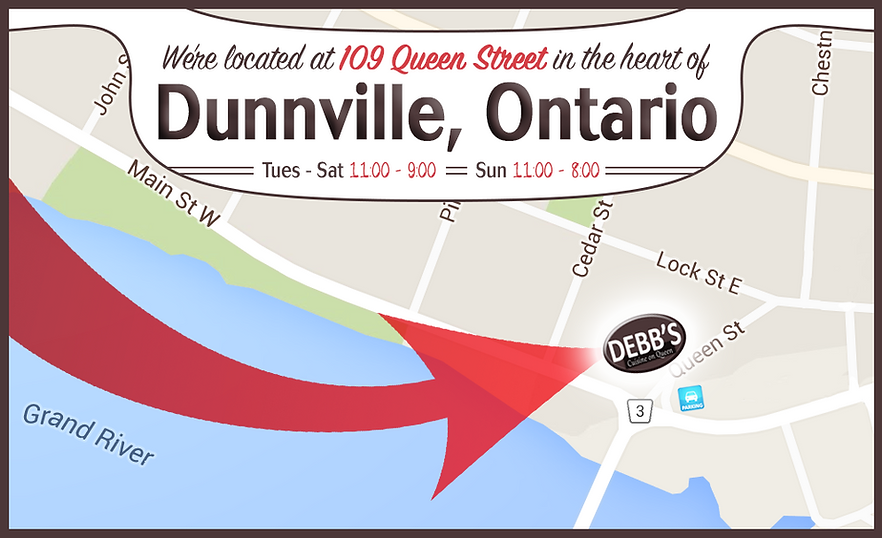 Located in the heart of Dunnville, Ontario! To join us for a delicious meal, please call us to reserve or stop by!