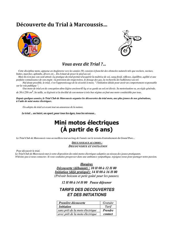 Flyer mini motos électriques 2021 - v1 0