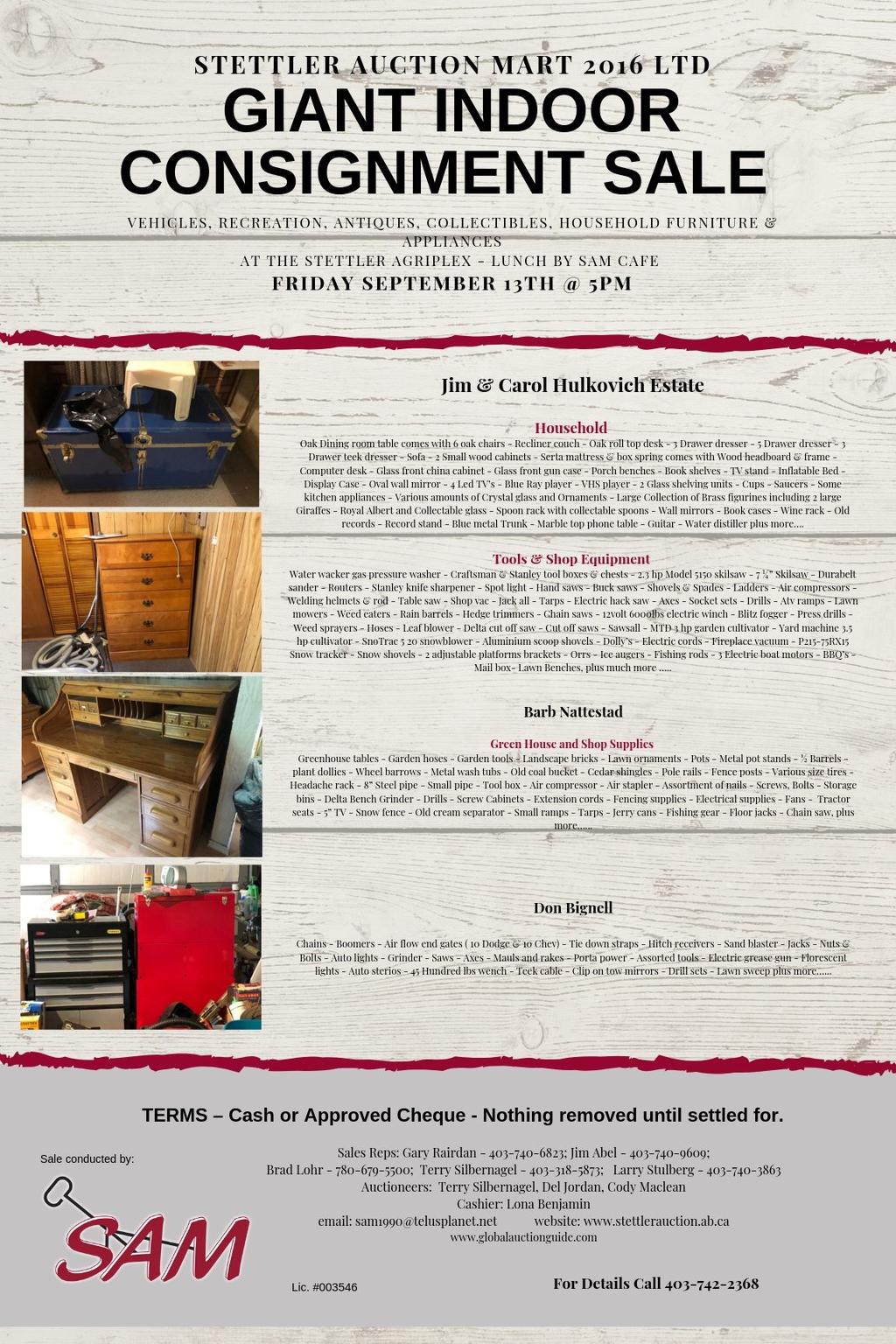 Sales | Stettler Auction Mart | Stettler, AB
