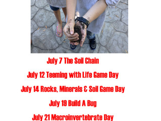 Curiosity Camps July Schedule