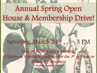 3rd Annual Spring Open House & Membership Drive
