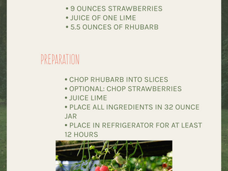 Strawberry Rhubarb Tonic