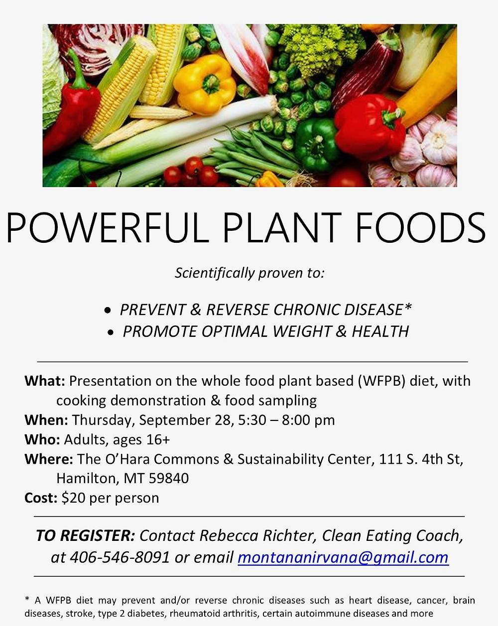 Powerful Plant Foods Poster