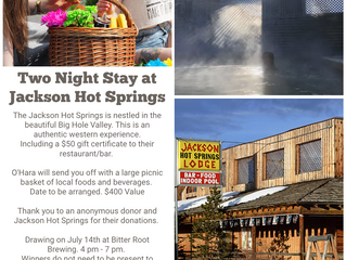 Raffle Item #2: Two Nights at Jackson Hot Springs ++