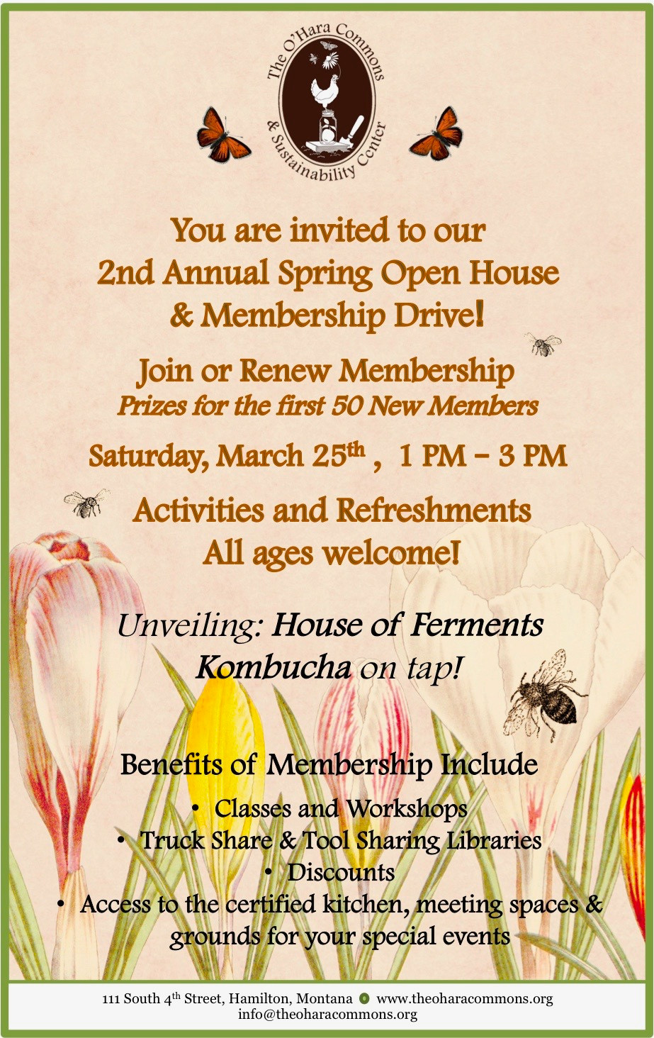 Spring Open House Poster & Details