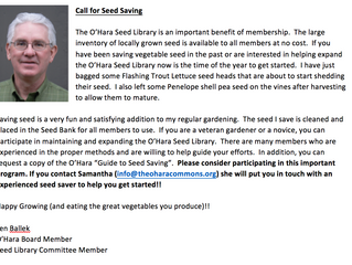 A Call for Seeds