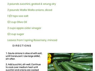 Zucchini Sweet Onion Jam