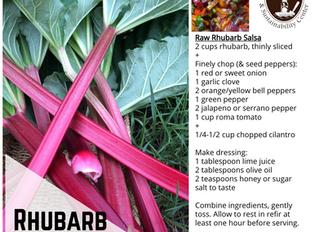 Raw Rhubarb Salsa