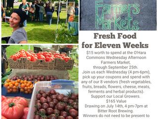 Raffle Item #3: Eleven Weeks of Fresh Food