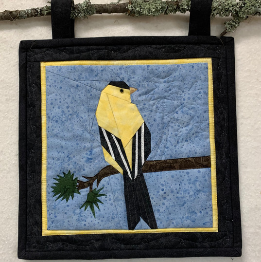 Quilted Goldfinch