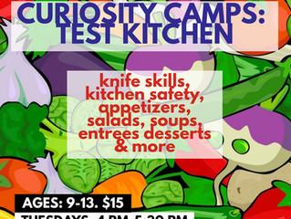 Curiosity Camps. Test Kitchen