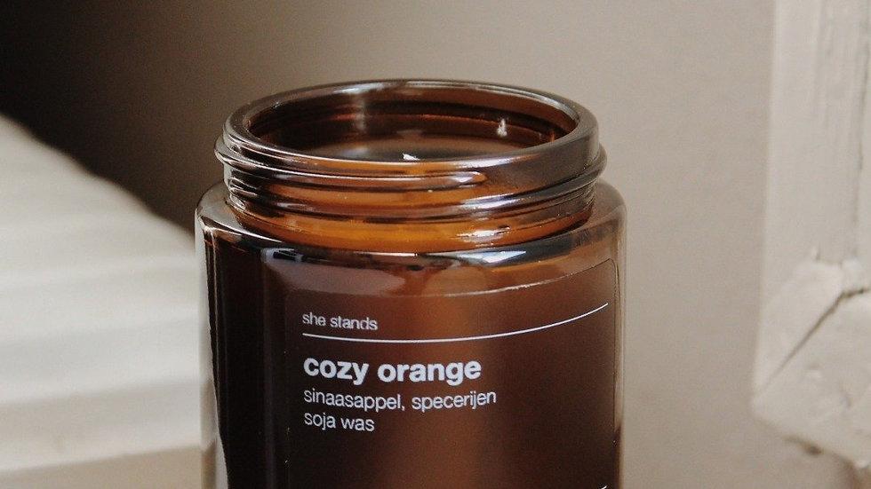 Cozy Orange - Handgegoten Geurkaars (Klein)