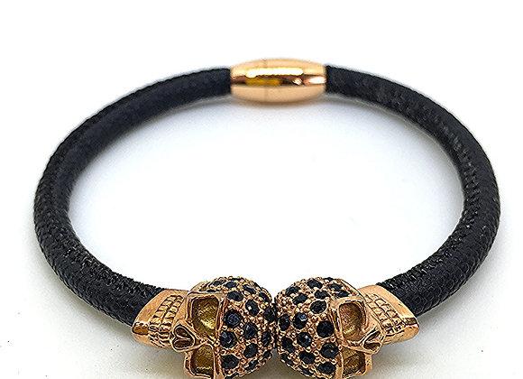 Bracelet Double Or Skull