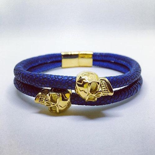 Double Wrap Bracelet Skull Or