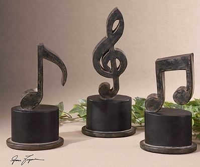 Accessories- Music Notes Metal Figurines