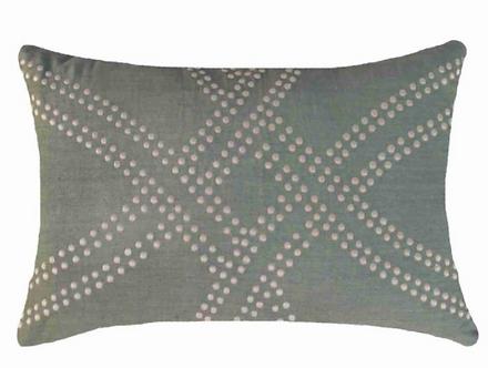 Cushion: Polar Dot Sage Lumber