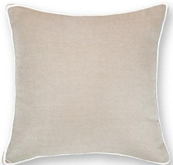 Cushion: Piped Linen Nat White Lounge