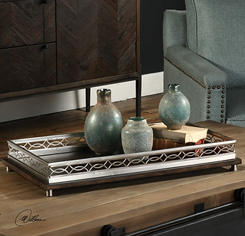 Accessories- Gualtiero Nickel and Wood Tray
