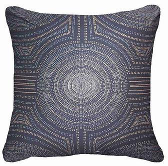 Cushion: Aboriginal Dot Navy Lounge