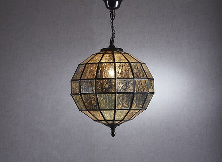 Lighting - EML Mercury Glass Pendant In Black