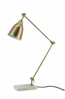 Lighting - Essex Table Lamp In Antique Brass