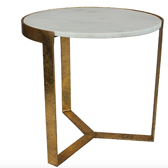 Table- ORO SIDE TABLE GOLD FOIL
