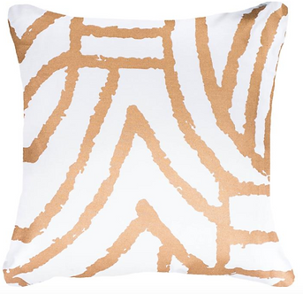 Cushion: Earth File Screen Print Gold Lounge