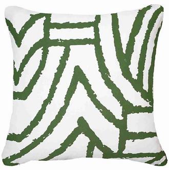 Cushion: Earth File Print Emerald lounge