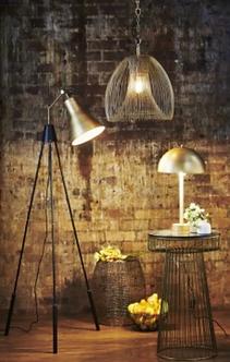Lighting - Rotterdam Floor Lamp In Antique Brass