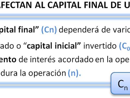Equivalencia temporal de las inversiones. El valor del dinero en el tiempo. Capitalización compuesta