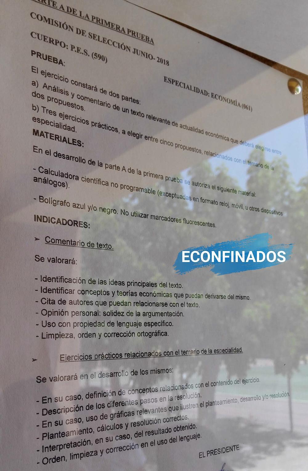 Indicadores Oposiciones Secundaria Andalucía
